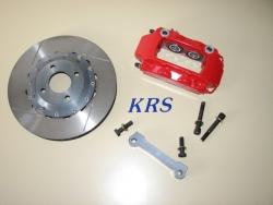 Kit freins Clio 304 x 28 étriers de Megane