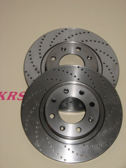 Disks of rear brake 266x10 drilled ( the set )