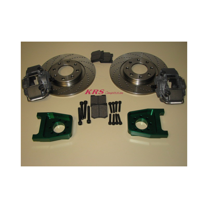 Kit of brakes rear for 106, caliper Alcon, and with disks 266 m/