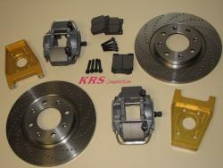 Brakes rear kit for 306 diameter disks 266